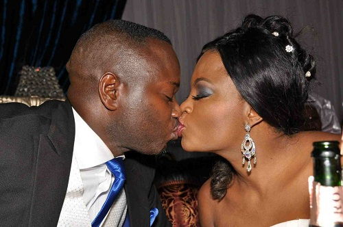 Funke akindele and kehinde Oloyede on their wedding day