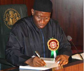 President Jonathan Has Signed Two New Bills Into Law