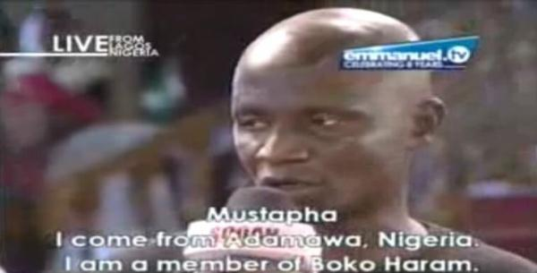 [PHOTO] Boko Haram member confesses before T.B Joshua, reveals failed plans to bomb the church