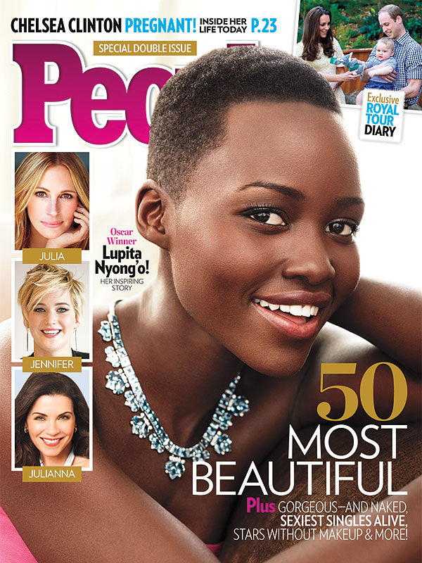 Oscar winner,Lupita Nyong'o Named People Magazine's Most Beautiful Woman in The World