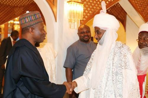 [PHOTOS] Emir Of Kano, Sanusi Finally Meets Jonathan