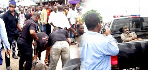 [SHOCKING] Mad Man Stabs Two Police Officers In Lagos