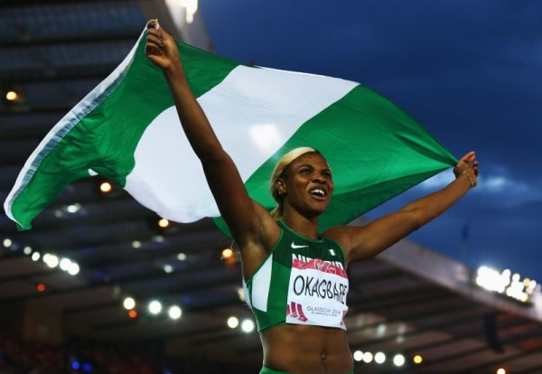 Sensational Victories For Nigeria: Okagbare Wins 200m Gold,Ese Brume Grabs Long Jump Gold