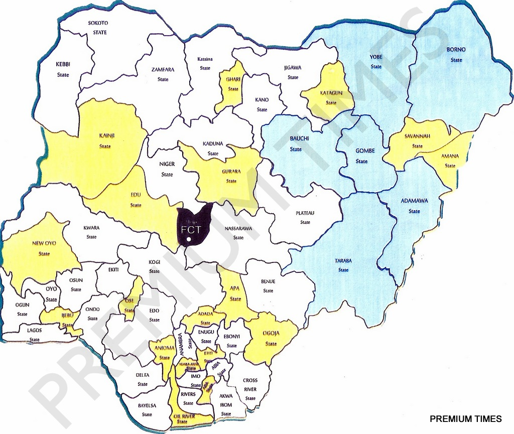 [PHOTO] See the new map of Nigeria as proposed by the National Conference