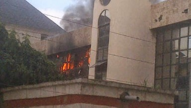 Nff building on fire