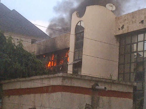 BREAKING NEWS: NFF Headquarters In Abuja On Fire