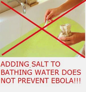 ebola salt to water