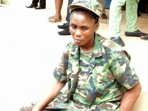 [PHOTOS] Fake female soldier re-arrested in Akure