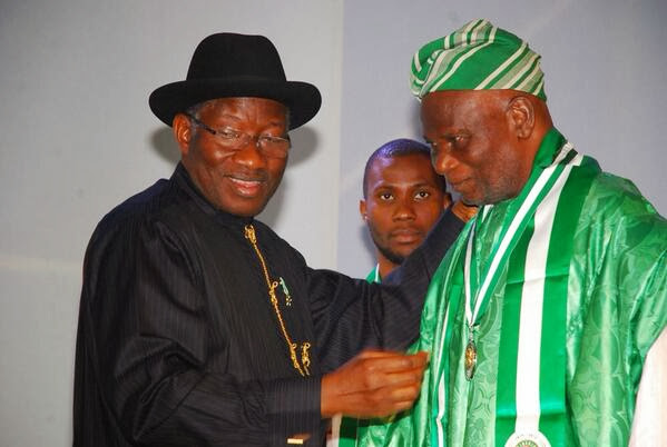 Jonathan appoints Nigeria's national flag designer as Special Assistant, places him on lifetime salary