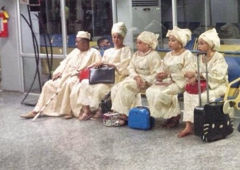 Alaafin of Oyo celebrates 76th birthday with his four wives in London {See Photos}