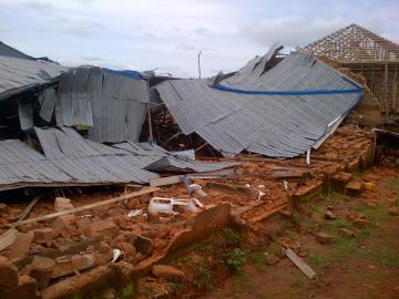 Another church building collapses in Edo