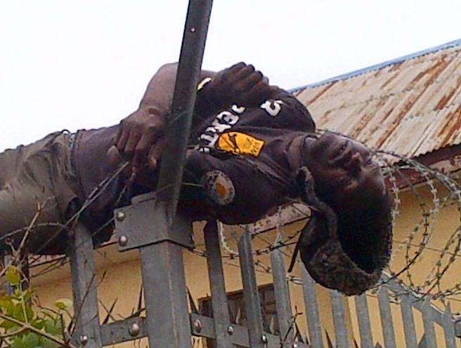 Man Dies On Electric Barbed Wire Trying to steal Diesel {See Photo}