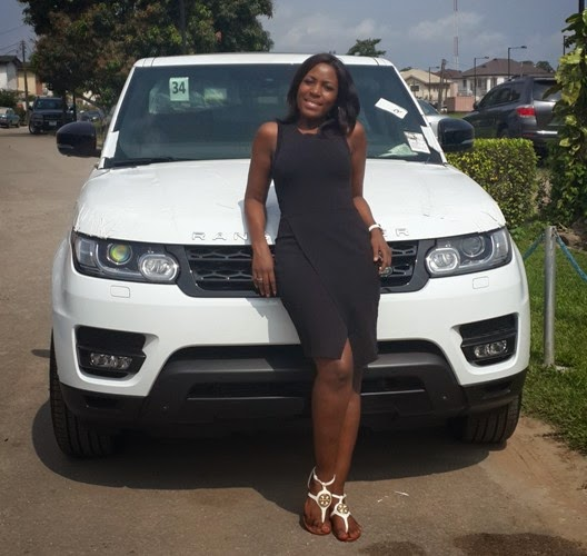 Popular Blogger Linda Ikeji Acquires  2014 Range Rover Worth 24 Million,Speaks On Her Success Story {See Photos}