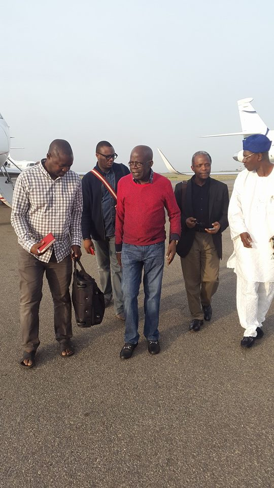 [PHOTOS] Bola Tinubu returns from his trip abroad looking unwell