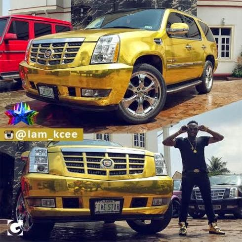 See Breathtaking Photos Of Kcee's 2014 Customized Gold Cadillac Escalade