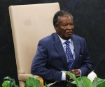 Zambia's President Sata waits to address the 68th session of the United Nations General Assembly in New York