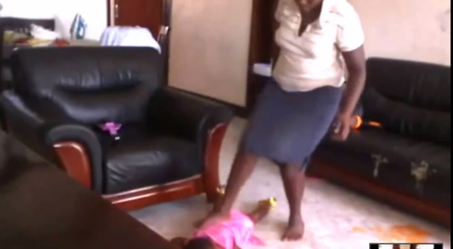 [MUST WATCH] Shocking Video Of House Maid Torturing 3 Year Old Girl