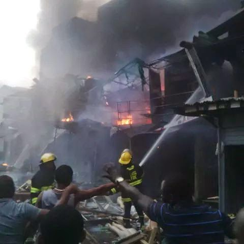 Image result for Breaking: Fire guts building in popular Balogun market