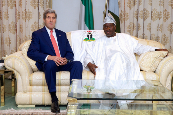 [PHOTOS]  Jonathan, Buhari, Tinubu, Amaechi, meet US Secretary of State, John Kerry