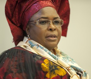 [VIDEO] Stone Anyone Chanting 'Change', Patience Jonathan Urges Supporters