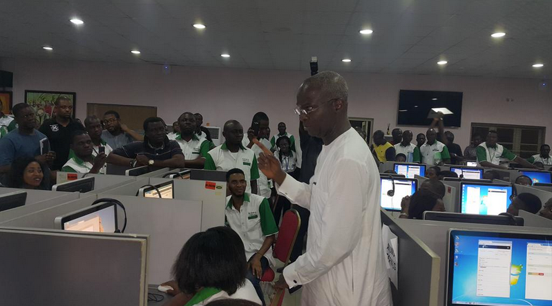 PHOTOS From Fashola In APC Situation Room