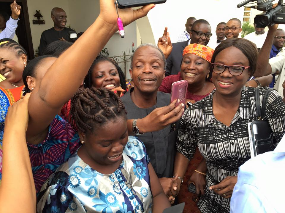[PHOTOS] Prof Osinbajo Celebrates Victory In The Presidential Elections