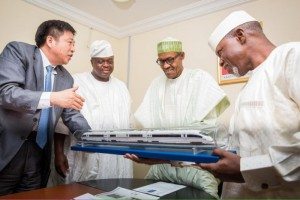 [PHOTO] Buhari Inspects New Ultra Modern Train For Nigeria