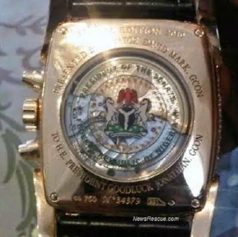 [PHOTO] Check Out The Customized Gold Watch David Mark Gave Jonathan. You Won't Believe How Much It Cost