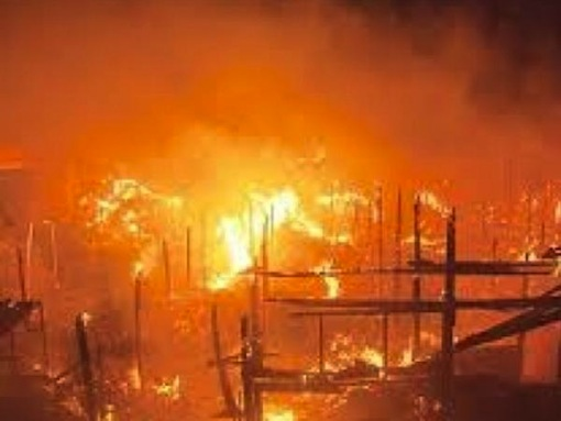 Three Children Burnt To Ashes In Lagos Fire, 18 Shops Destroyed