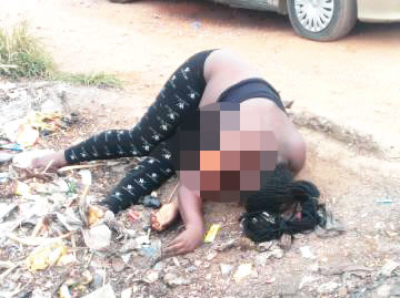 Shocking Photo: 23 Year Old Woman's Corpse Found At Refuse Dump In Ogun With Parts Of Her Body Missing
