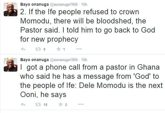 Image result for bloodshed if dele momodu