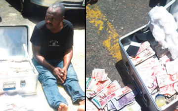 [PHOTO] Police Arrests Man For Producing Fake Dollars, Pounds Worth Millions Of Naira