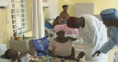 [PHOTOS] Buhari Pays Hospital Bill For Little Girl Who Was Shot By Armed Robbers