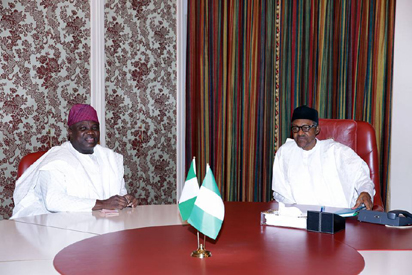 [PHOTO] Governor Ambode Visits President Buhari, Commends His Good Works
