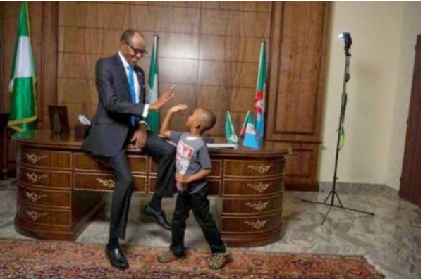 10 Lovely Photos That Reveal President Buhari's Soft Spot For Children