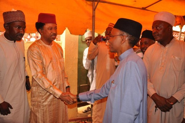 [PHOTOS] Governor El-Rufai Pays Condolence Visit To Shehu Sani Over The Death Of His Mother