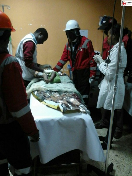 [PHOTOS] 18-Month-Old Baby Pulled Out Alive Four Days After Building Collapsed In Nairobi