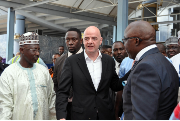 BREAKING: FIFA President, Gianni Infantino Arrives In Nigeria