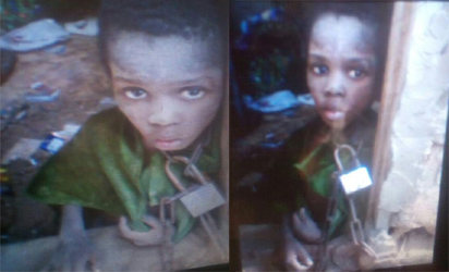 'I Stole Because I Was Hungry'- Nine-year-Old Boy Chained By His Father