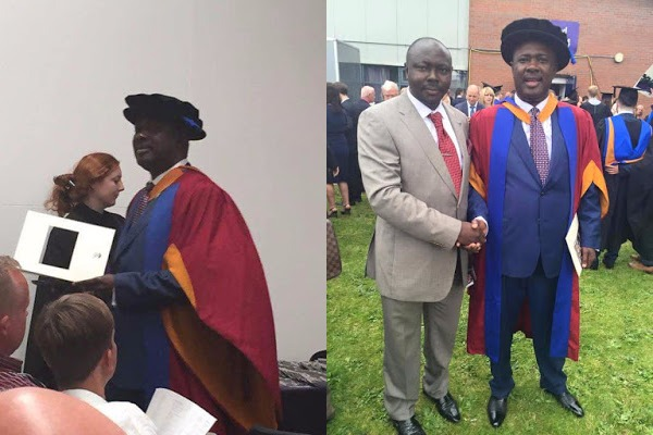 [PHOTOS] Minister of State for Agriculture, Heineken Lopkobiri Bags PhD from UK University