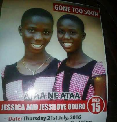 [PHOTOS] Twin Sisters Who Died After Spraying Insecticide Buried In Ghana
