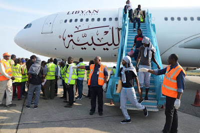 [PHOTOS] 241 Nigerians Deported From Libya