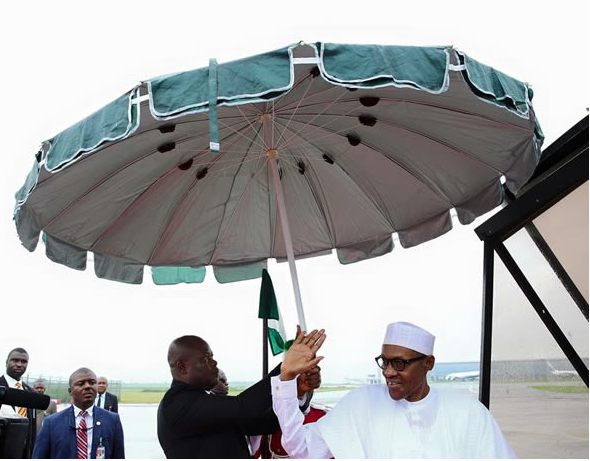 [PHOTOS] Buhari Departs Abuja For Kenya For Two Day Official Visit