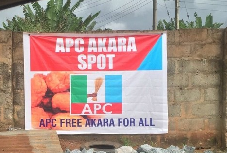 [PHOTOS] APC Opens Free 'Akara' Spot For Edo People Ahead Of Governorship Elections