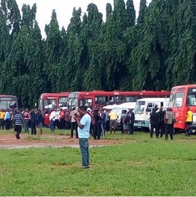 Questions Raised As BRT Buses Filled With People Arrive In Edo State