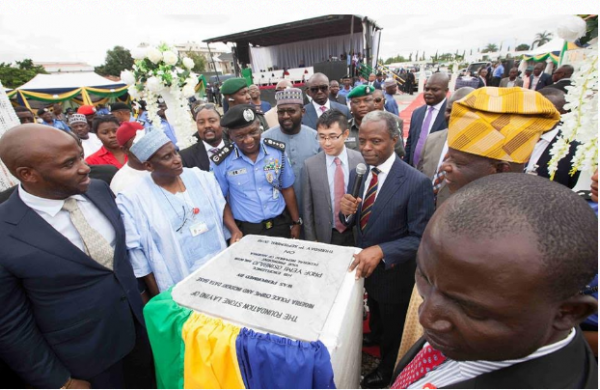 Osinbajo at Police hqtrs