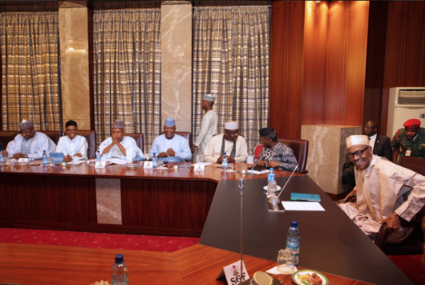 Photos From President Buhari's Meeting With APC Governors In Abuja Today