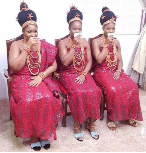 See Beautiful Photos Of The Wives Of New Oba Of Benin