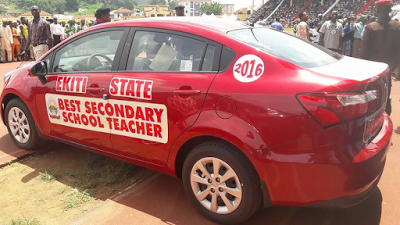 Image result for Fayose Gives Cars To Teachers On World Teachers