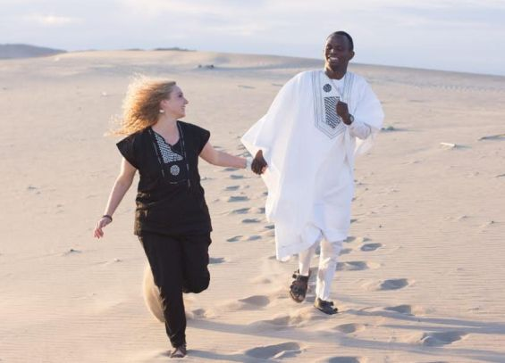 Nigerian Man Who Proposed To White Girlfriend On Olumo Rock Shares